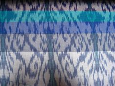 A change in the weft colour produces a different effect on the design, based on how the weft colours mix with the warp ikat colours. #Ikat