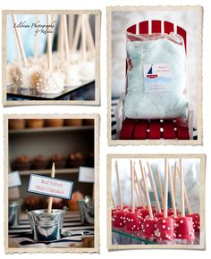 Really like a number of ideas for a nautical themed shower on this photography blog.