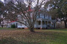 millen georgia | House Italianate Architecture Front Porch Autumn Jenkins County GA ...