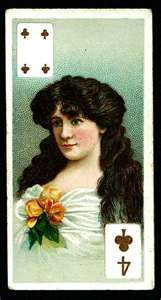 Gallaher's Beauties (playing card insert) 1905
