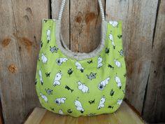Cotton Handbag Shoulder Bag Moomin Bag Linen Bag by Vivicreative, $24.00