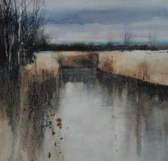 B-sides — David Parfitt(British) Wetland Calm  watercolour...