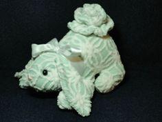 Vintage Chenille Stuffed  Handmade  Bunny Mint by backyardbuddies, $30.00