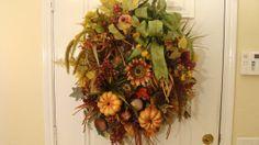 Fall Wreath  Autumn's Bounty  Early Bird by WiltshireWildflowers