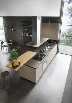 LOOK Wooden kitchen SISTEMA Collection by Snaidero design Michele Marcon