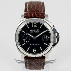 #Panerai PAM00048 Luminor Marina 40mm Automatic Watch PAM48C - #OCWatchCompany #WatchStore #WalnutCreek