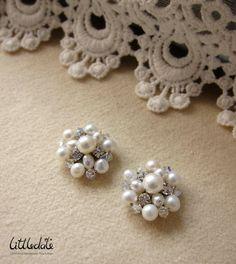 Freshwater Pearl Bubbles Stud Earrings by Littledate on Etsy, $50.00
