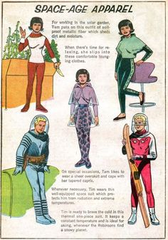 "space age apparel ideas for opening number of ""Little Shop"""