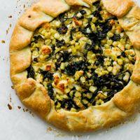Savory Kale, Corn & Feta Cheese Galette