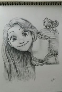 Disney Fan art...Rapunzel pencil sketch                                                                                                                                                                                 More