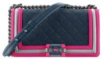 Chanel LOOKING FOR THIS BAG, DON'T BUY! Chanel boy Navy Fuchsia Resin. $3100 Cross Body Bag