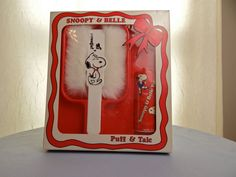 Vintage Snoopy & Belle Puff and Talc Set