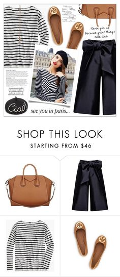 """Look # 770"" by lookat ❤ liked on Polyvore featuring Givenchy, Harvey Faircloth, J.Crew, Tory Burch, Eugenia Kim, KAROLINA, Prada and Peace and Love by Calao"
