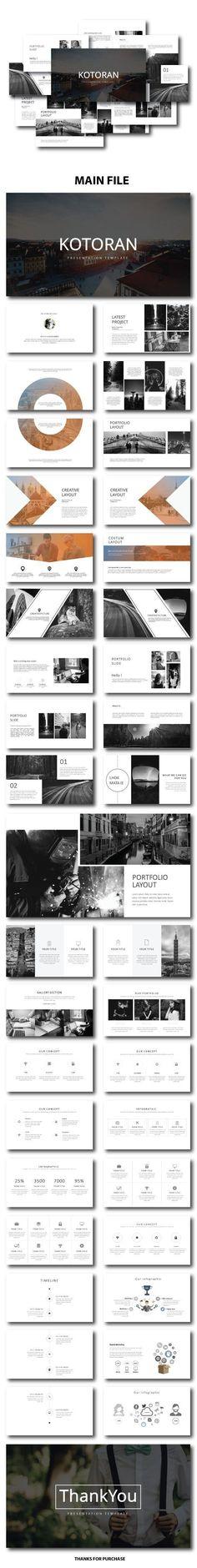 Kotoran Presentation Template - #PowerPoint Templates Presentation Templates