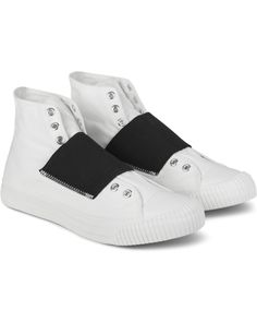 SASQUATCHFABRIX. White High-cut Slip-on Sneakers