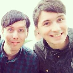 Phil Lester and Dan Howell. The best of bestestestestestestestest×100 friends in the world.......false i lied....they are brother♡♡♡
