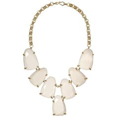 Harlow Statement Necklace in White - Kendra Scott Jewelry (€180) ❤ liked on Polyvore featuring jewelry, necklaces, accessories, bib statement necklace, kendra scott necklace, 14 karat gold jewelry, 14k jewelry and white necklace