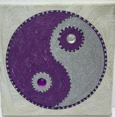 Cool Yin und Yang schwarz silber Pulverbeschichtetes Metall Wanddekoration f r innen und au en Wetterfest und Rostfrei Symbol f r Daoismus Taoismu u