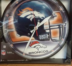 Denver Broncos NFL Wall Clock Logo New In Box On Hand #Wincraft #DenverBroncos Item for sale on Ebay now - this item will sell