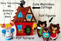 Lindy J Design: NEW, CUTE little Matchbox Cottages by LindyJ Design