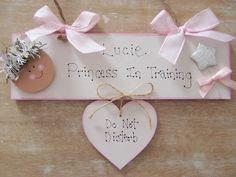 Personalised Girls Princess Bedroom Nursery Door Name Sign Gift Birthday Gift Bedroom Door Signs, Bedroom Doors, Girls Princess Bedroom, Personalised Childrens Gifts, Playroom Signs, Mermaid Crafts, Wooden Bedroom, Name Signs, Handmade Wooden