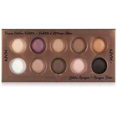 Nyx Dream Catcher Shadow Palette, Golden Horizons found on Polyvore featuring beauty products, makeup, eye makeup, eyeshadow, golden horizons, nyx, palette eyeshadow, nyx eyeshadow and nyx eye shadow