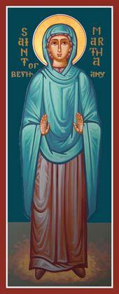 My patron saint- Martha of Bethany Feast day June 4