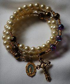 5 Decade Rosary Bracelet by AllToolsPrayerful on Etsy. 10 New items on AllToolsPrayerful, follow the link to see more prayerful creations.