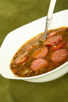 Soupe catalane de lentilles au chorizo