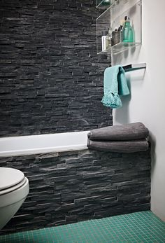 great bathroom idea, just make it warm!