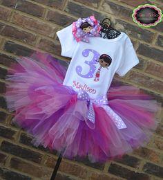 Doc McStuffins Themed Birthday Tutu Outfit. $54.95, via Etsy.