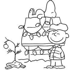 snoopy christmas coloring 231x300 A Charlie Brown Christmas