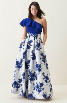 Main Image - Eliza J Floral Mikado Ball Skirt Long Summer Dresses, Evening Dresses, Prom Dresses, Formal Dresses, Girls Fashion Clothes, Fashion Dresses, Skirt Outfits, Dress Skirt, Skirt Pattern Free