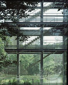 Cartier Foundation for Contemporary Art Paris Architecture, French Architecture, Amazing Architecture, Architecture Design, Jean Nouvel, Fondation Cartier, Exterior Stairs, Foundation, Ex Machina
