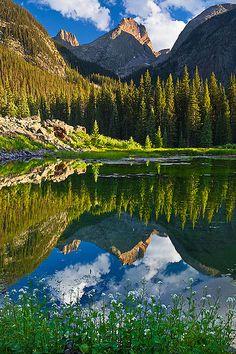 Vestal Peak Reflection, Weminuche wilderness, Colorado