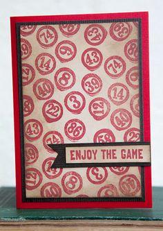 Darkroom Door 'Bingo Numbers' Eclectic Stamp. Card created by Rachel Greig