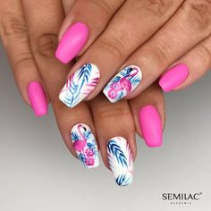 cute nails for kids ; nails for kids cute short ; cute acrylic nails for kids ; cute unicorn nails for kids Summer Acrylic Nails, Best Acrylic Nails, Summer Nails, Summer Vacation Nails, Cute Nails, Pretty Nails, Hair And Nails, My Nails, Hawaiian Nails