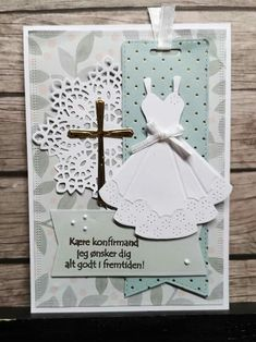 Communion Invitations, Scrapbook Cards, Scrapbooking, Baby Cards, Gift Tags, Cardmaking, Greeting Cards, Paper Crafts, Christmas Ornaments