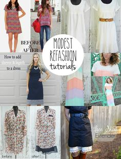 Many Modest Refashion Tutorials