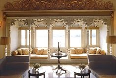 Royal suite, Taj Lake Palace, Udaipur, Rajasthan, India. tourist attraction udaipur