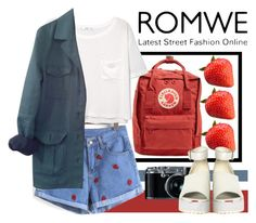 """Strawberry short"" by syoungju ❤ liked on Polyvore featuring Fjällräven, MANGO, HUGO and The WhitePepper"