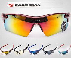 US $4.05 ROBESBON High Quality Gafas Ciclismo Cycling Glasses Bicycle Professional Racing Sport Men Sunglasses Eyewear
