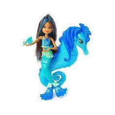 Bendy Doll Supplies | Mattel Barbie In A Mermaid Tale Blue Seahorse Stylist Doll
