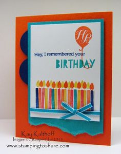 Stamping to Share: LOTS of Candles with Birthday Bash Specialty DSP and the How To Video!