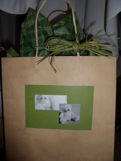 A gift bag for a baby shower......perfect for prizes or the gift.