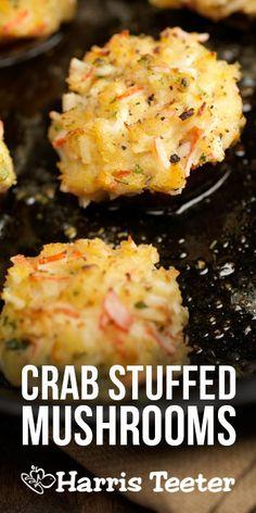 Stuffed Mushrooms with Lumpmeat Crab