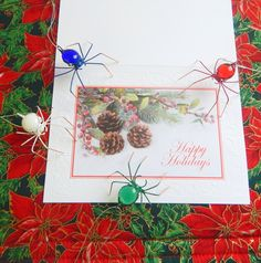 Small Hanging Spiders of Color for Christmas Tree Home Decorations by SpiderwoodHollow on Etsy