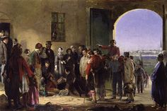 Nightingale receiving the wounded at Scutari, Crimean War (Date Unknown)