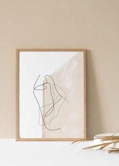 home Contemporary Artwork, Modern Art, Abstract Lines, Abstract Art, Painting Inspiration, Art Inspo, Tropical Art, Art Background, Minimalist Art