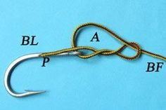 Davy knot, a fishing knot easy and fast to tie.
